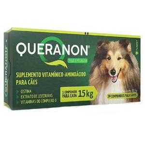 Queranon Suplemento Alimentar para Cães de até 15Kg  30 Comprimidos