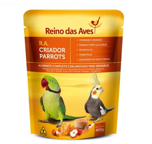 RA Criador Parrots 400g Reino das Aves