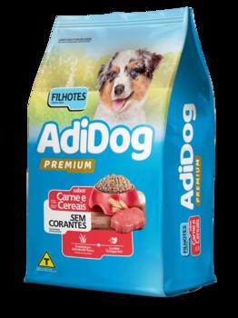 Ração Adidog Premium Cães Filhotes Carne e Cereais Sem Corantes 15Kg