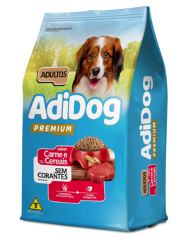 Ração Adidog Premium Para Cães Adultos Sabor Carne e Cereais 15kg