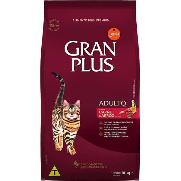 Ração GranPlus Carne e Arroz para Gatos Adultos 10 kg