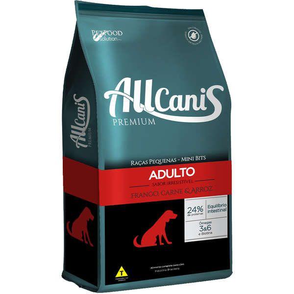 Ração Allcanis Premium para Cães Adultos de Raças Pequenas 15 Kg