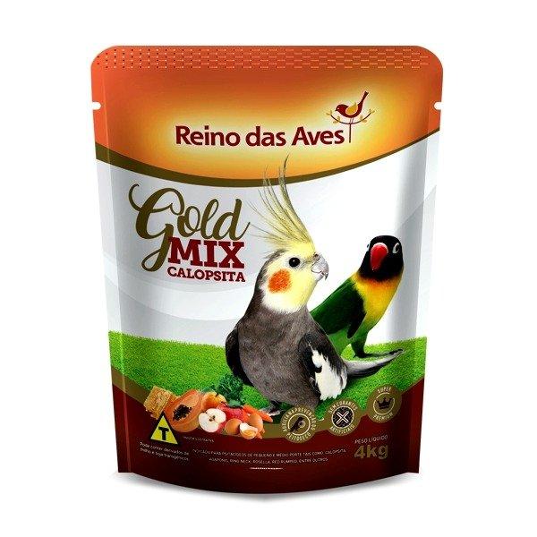 Ração Calopsita Gold Mix 4kg Reino Das Aves