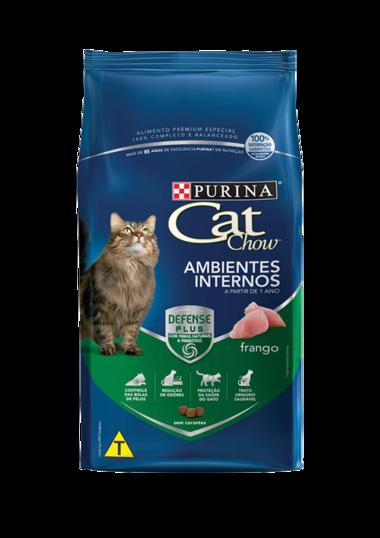 Ração Nestlé Purina Cat Chow para Gatos Adultos Ambientes Internos 10,1 Kg