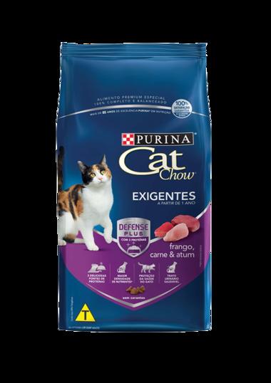 Ração Nestlé Purina Cat Chow para Gatos Adultos Exigent 1 Kg