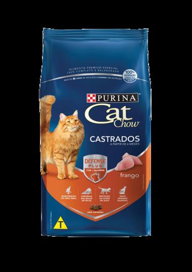 Ração Nestlé Purina Cat Chow para Gatos Adultos Castrados Sabor Frango 1 Kg