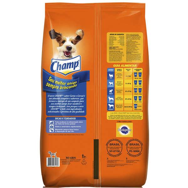 Ração Champ Carne e Cereais para Cães Adultos 20Kg