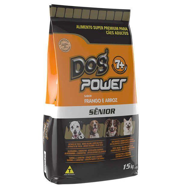 Ração Dog Power Frango e Arroz para Cães Sênior acima de 7 anos 15kg