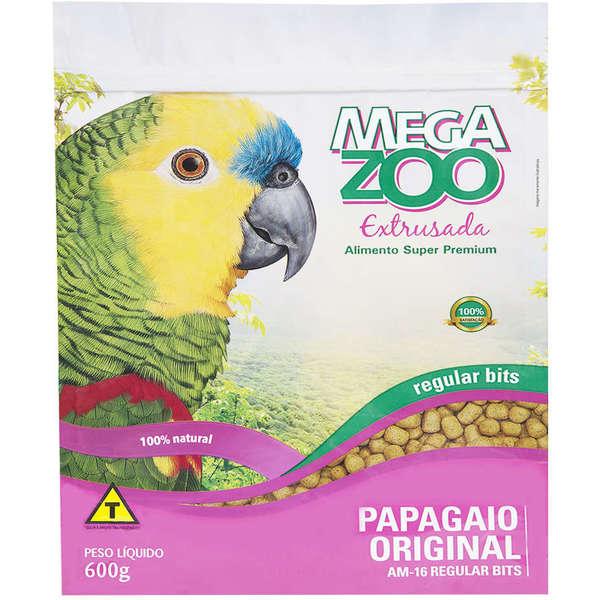 Ração Extrusada para Papagaio Regular Bits 600g Megazoo