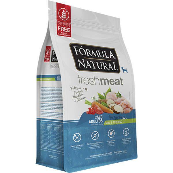 Ração Fórmula Natural Fresh Meat para Cães Adultos de Porte Mini e Pequeno Sabor Frango, Mandioca e Alecrim 1 Kg