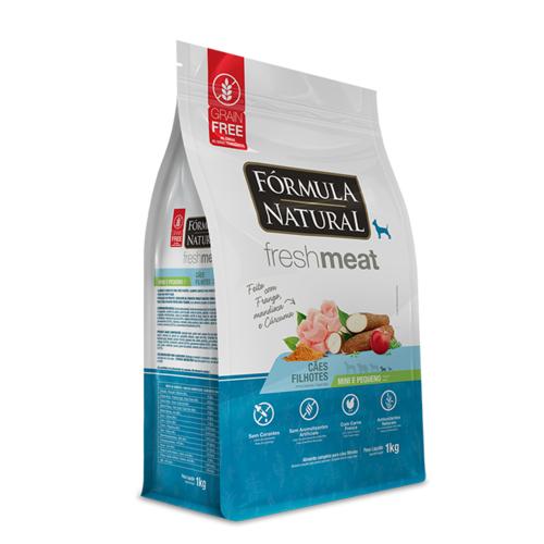 Ração Fórmula Natural Fresh Meat para Cães Filhotes de Porte Mini e Pequeno Sabor Frango, Mandioca e Cúrcuma 1 Kg