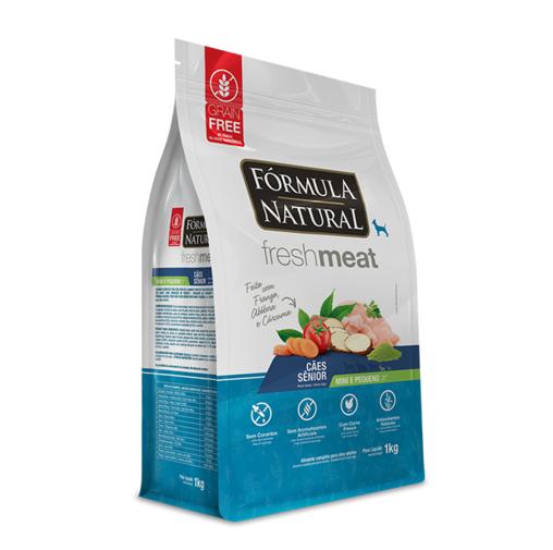 Ração Fórmula Natural Fresh Meat para Cães Sênior de Porte Mini e Pequeno Sabor Frango, Tomate e Chá Verde 1 Kg