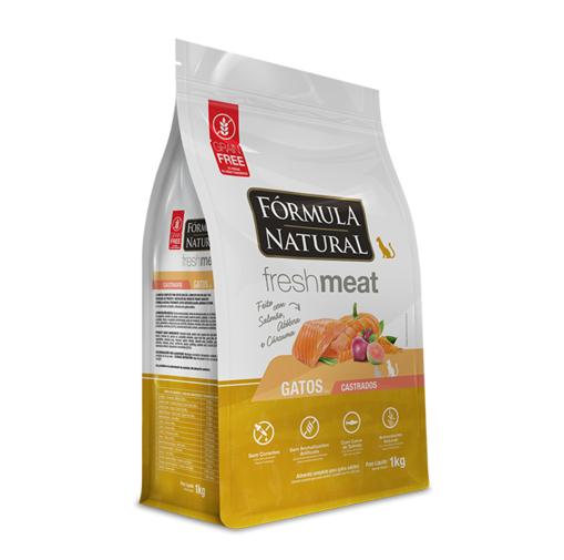 Ração Fórmula Natural Fresh Meat para Gatos Castrados Sabor Salmão, Abóbora e Cúrcuma 1 Kg