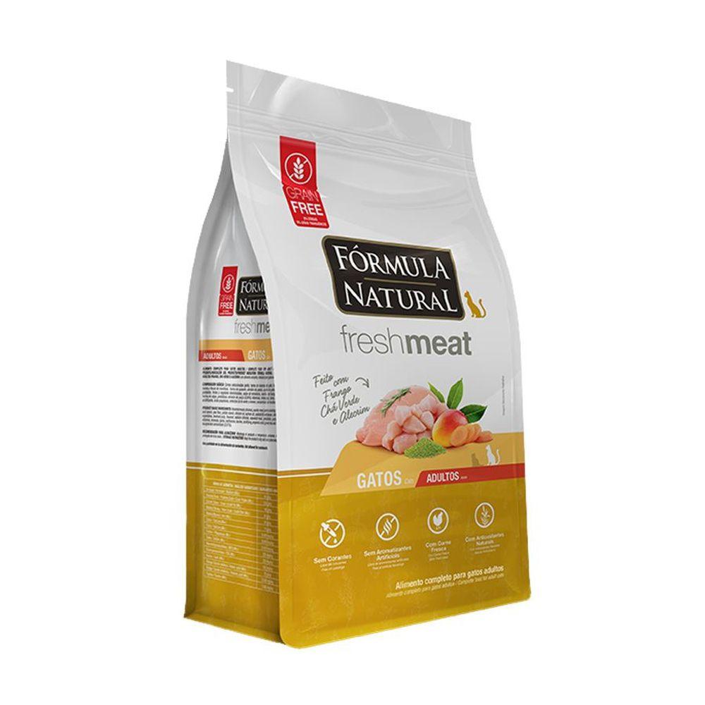 Ração Fórmula Natural Fresh Meat para Gatos Adultos Sabor Frango, Chá verde e Alecrim 1 Kg
