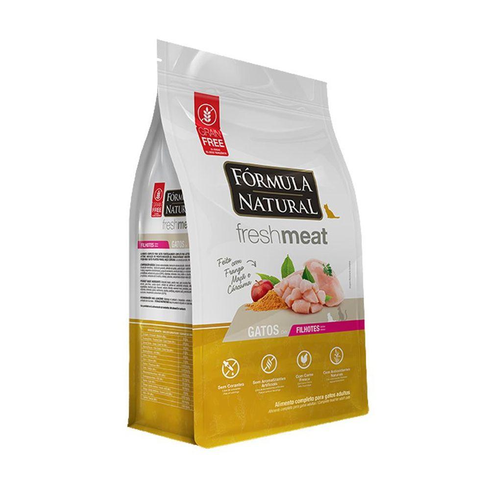 Ração Fórmula Natural Fresh Meat para Gatos Filhotes Sabor Frango, Maçã e Cúrcuma 1 Kg