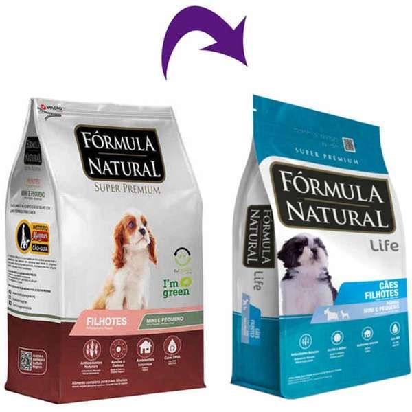Ração Fórmula Natural Super Premium para Cães Filhotes de Porte Mini e Pequeno