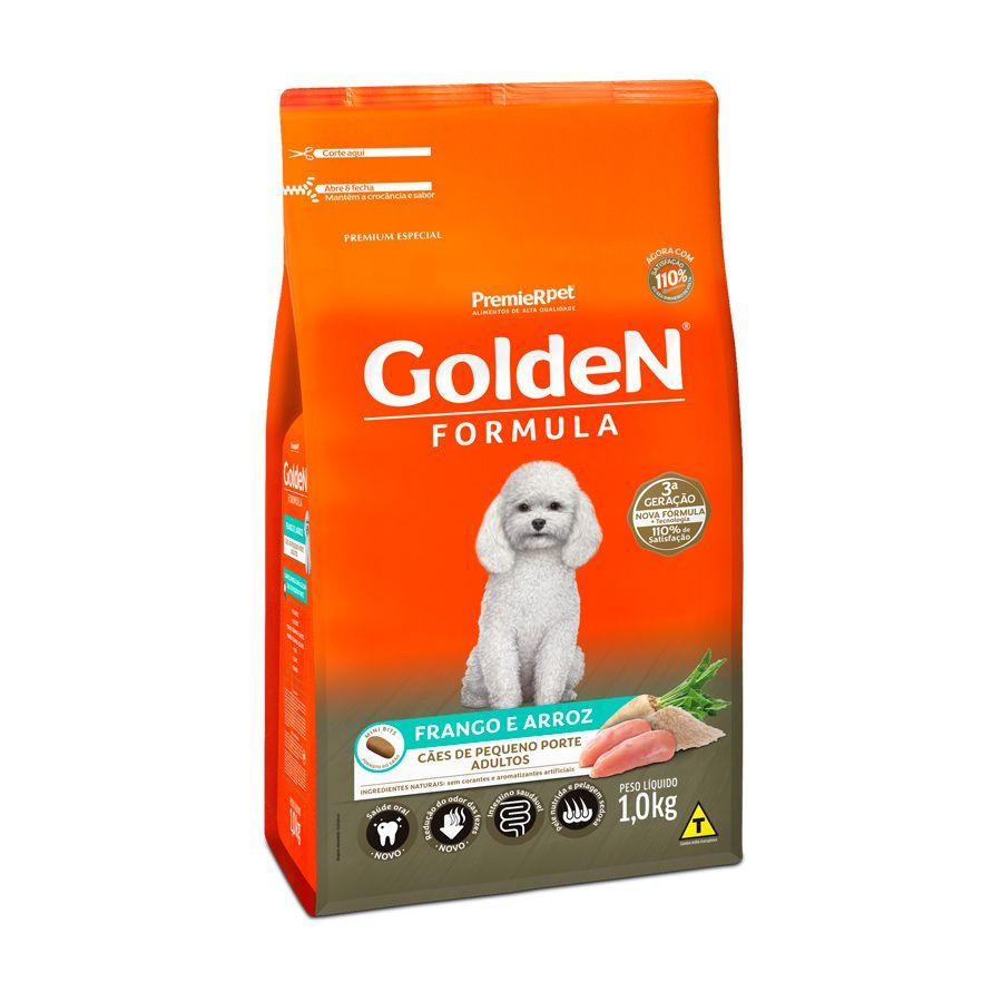 Ração Golden Fórmula para Cães Adultos de Pequeno Porte Sabor Frango e Arroz