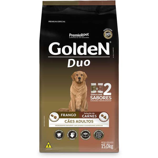 Ração Golden Duo para Cães Adultos com Frango e Seleção de Carnes 15 Kg