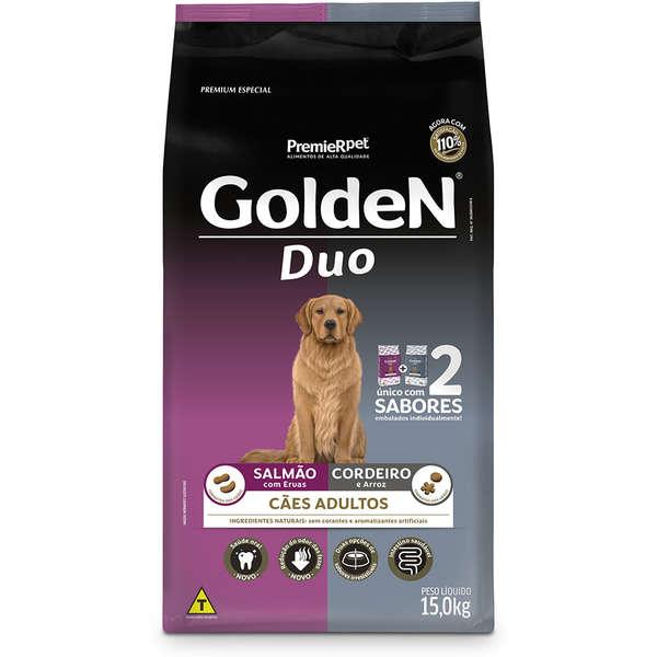 Ração Golden Duo para Cães Adultos com Salmão com Ervas e Cordeiro e Arroz 15 Kg