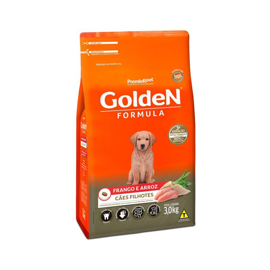 Ração Golden Fórmula para Cães Filhotes Sabor Frango e Arroz 3 Kg