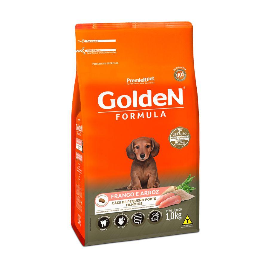Ração Golden Fórmula para Cães Filhotes de Porte Pequeno Sabor Frango e Arroz