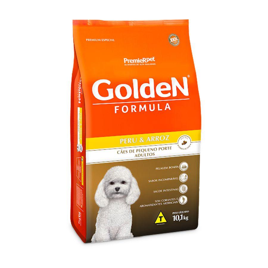 Ração Golden Fórmula para Cães Adultos de Pequeno Porte Sabor Peru e Arroz 10,1 Kg