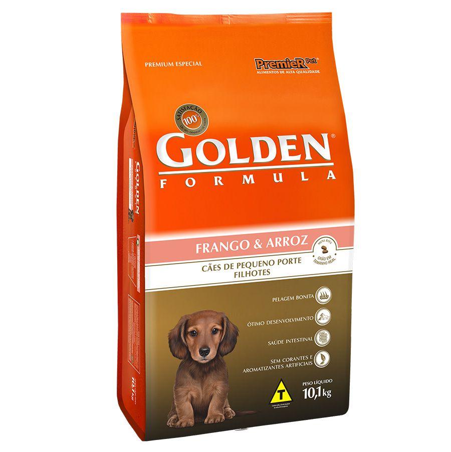 Ração Golden Fórmula para Cães Filhotes de Porte Pequeno Sabor Frango e Arroz 10,1 Kg