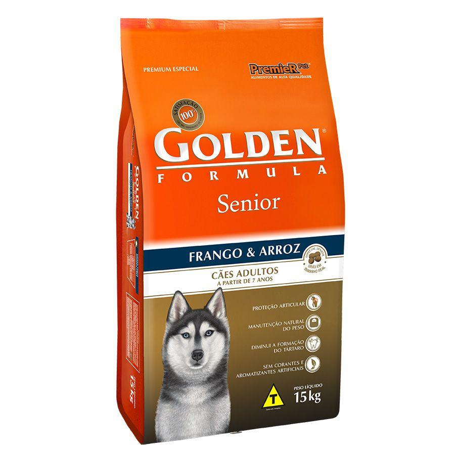 Ração Golden Fórmula para Cães Senior Sabor Frango e Arroz 15 Kg