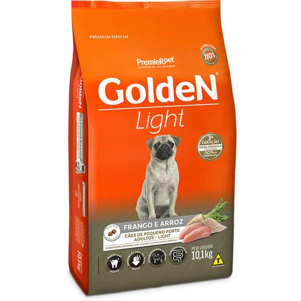 Ração Golden Fórmula Light para Cães Adultos de Porte Pequeno Sabor Frango e Arroz 10,1 Kg