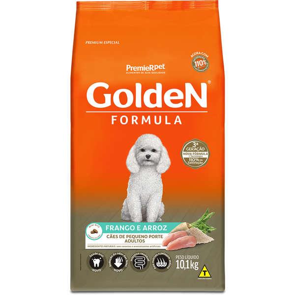 Ração Golden Fórmula para Cães Adultos de Pequeno Porte Sabor Frango e Arroz 10,1 Kg