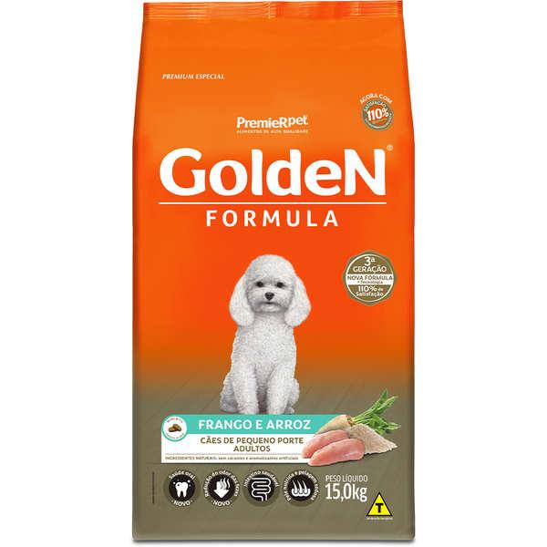 Ração Golden Fórmula para Cães Adultos de Pequeno Porte Sabor Frango e Arroz 15 Kg
