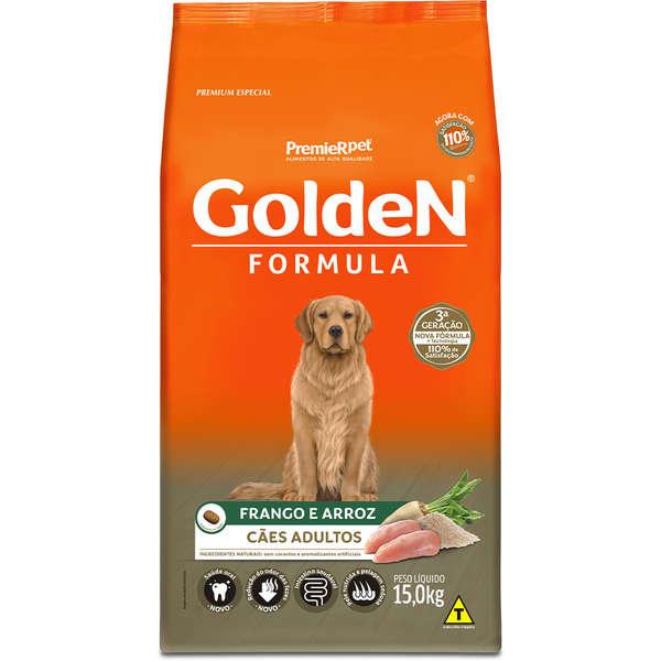 Ração Golden Fórmula para Cães Adultos Sabor Frango e Arroz 15 Kg