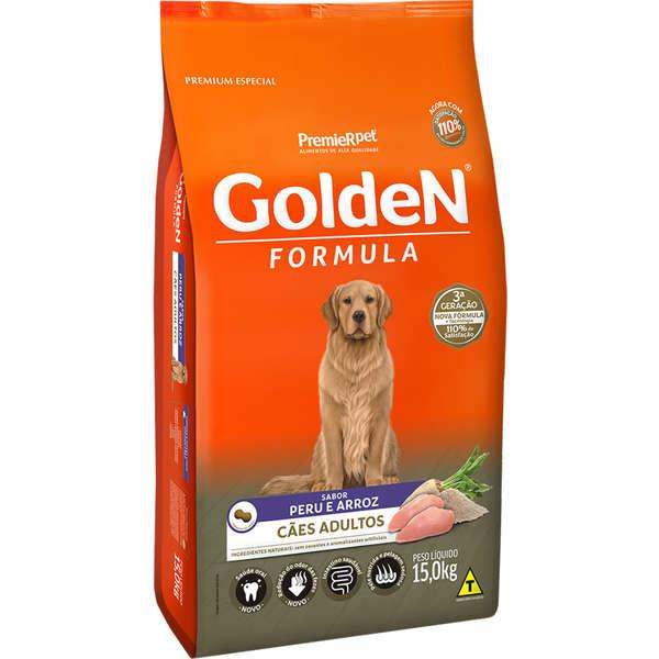 Ração Golden Fórmula para Cães Adultos Sabor Peru e Arroz 15 Kg