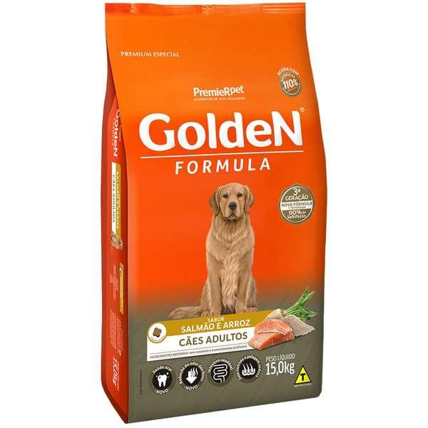 Ração Golden Fórmula para Cães Adultos Sabor Salmão e Arroz 15 Kg