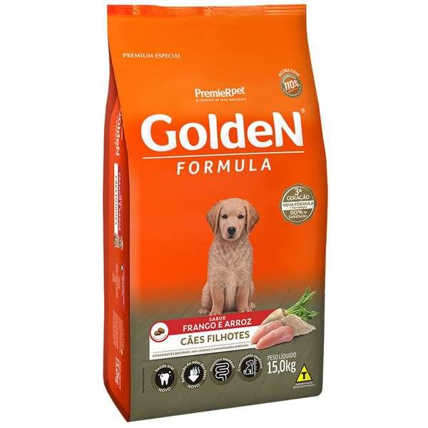 Ração Golden Fórmula para Cães Filhotes Sabor Frango e Arroz 15 Kg