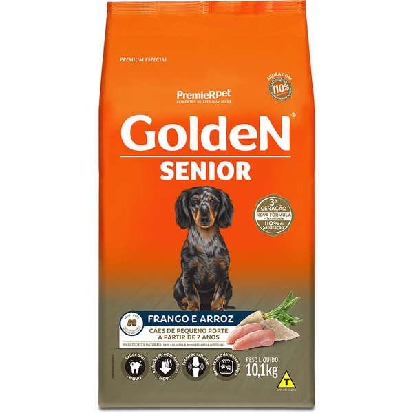 Ração Golden Fórmula para Cães Senior de Porte Pequeno Sabor Frango e Arroz 10,1 Kg