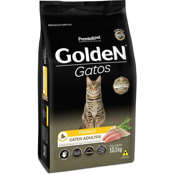 Ração Golden Gatos para Adultos Sabor Frango 10,1 Kg