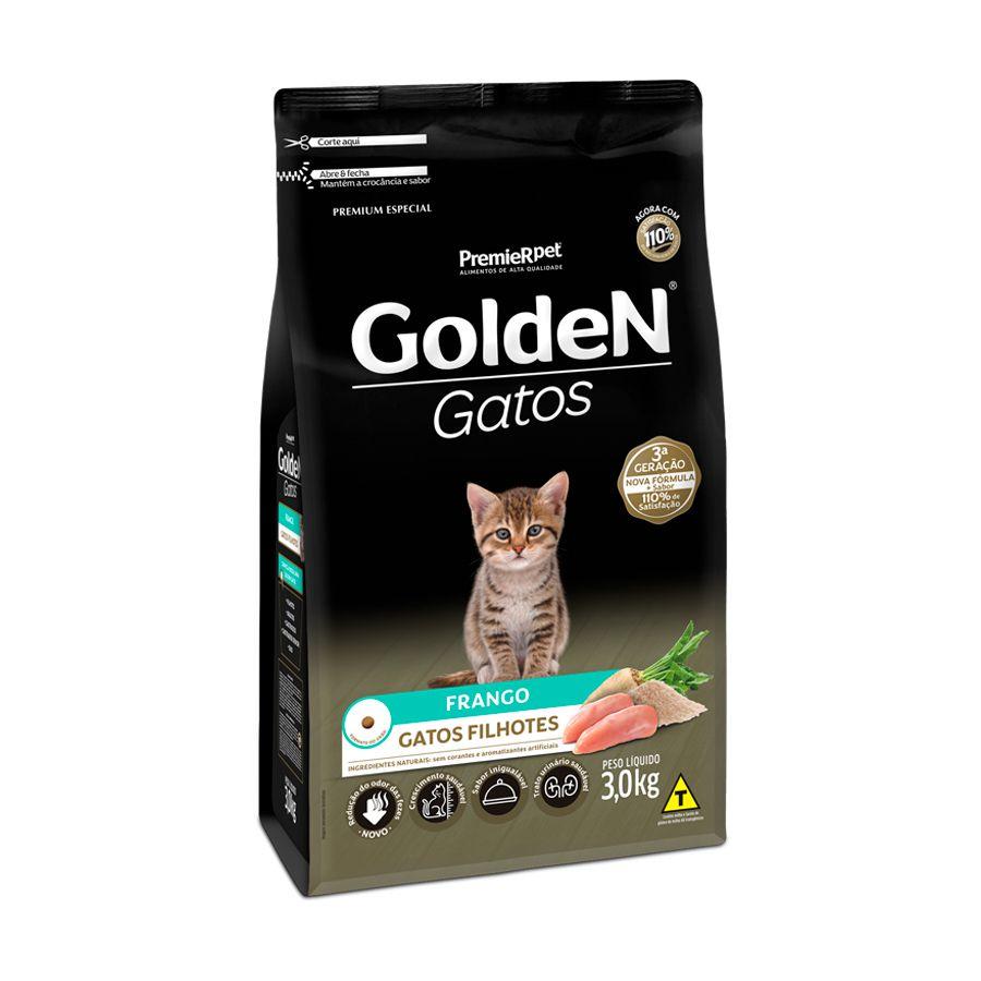 Ração Golden Gatos para Filhotes Sabor Frango 3 Kg