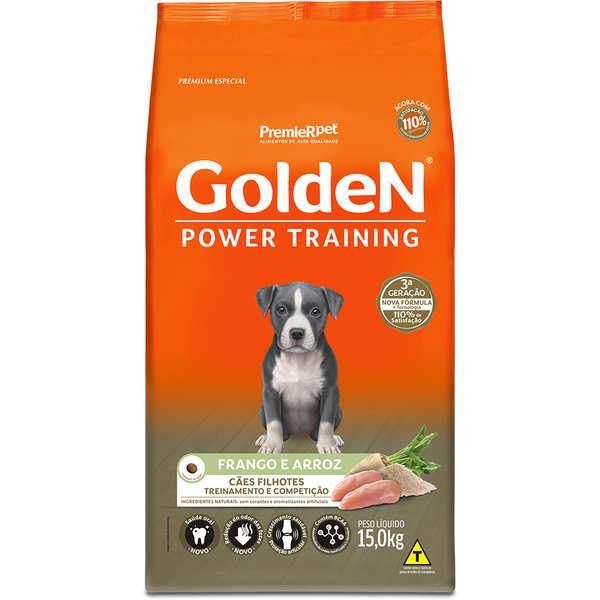 Ração Golden Power Training para Cães Filhotes Sabor Frango e Arroz 15 Kg