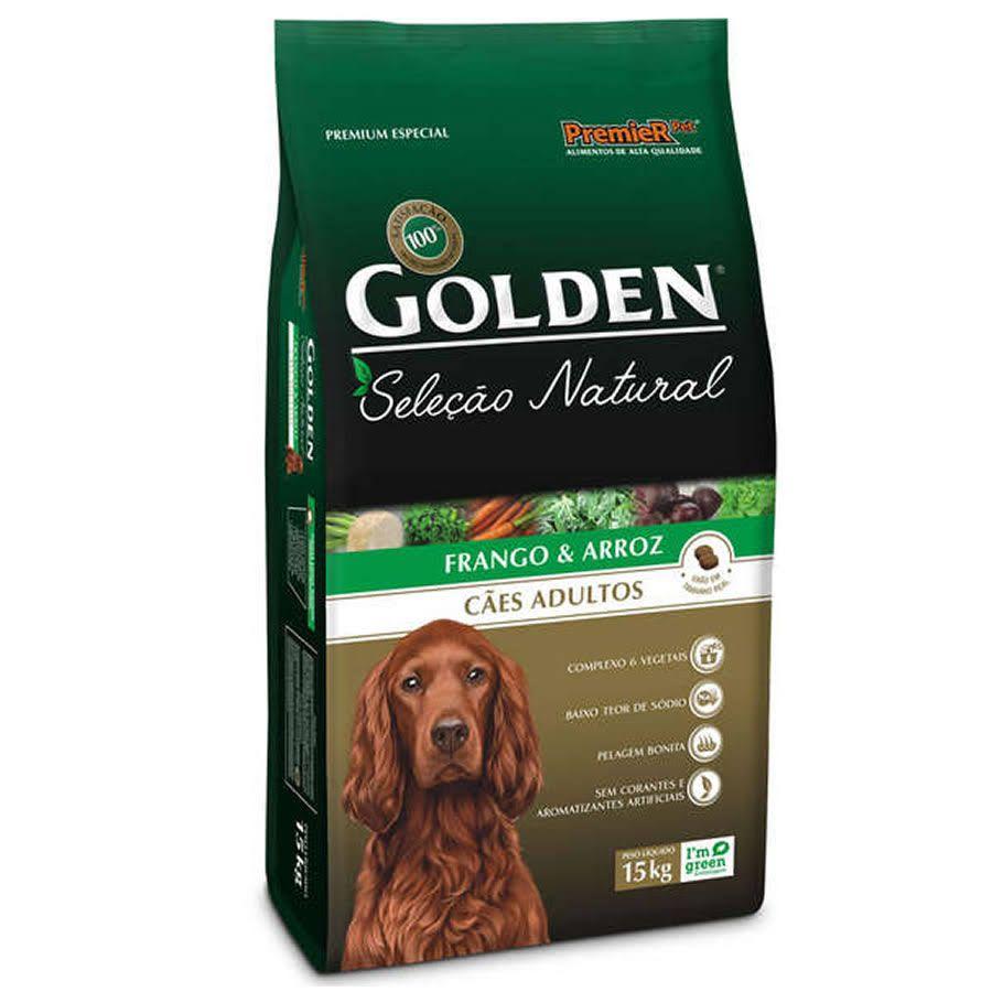 Ração Golden Seleção Natural para Cães Adultos Sabor Frango e Arroz 15 Kg