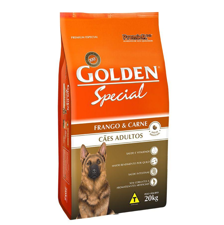 Ração Golden Special para Cães Adultos Sabor Frango e Carne 20 Kg