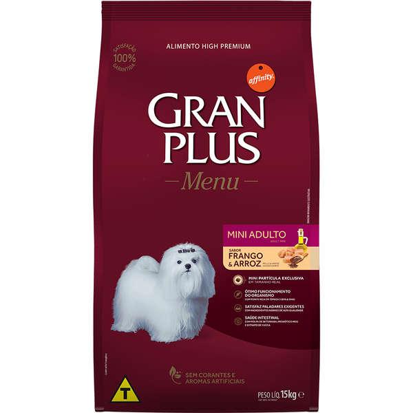 Ração GranPlus Frango e Arroz Mini para Cães Adultos de Raças Pequenas 15Kg