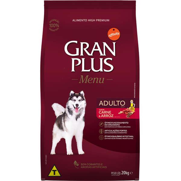 Ração GranPlus Menu  Carne e Arroz para Cães Adultos 15 Kg