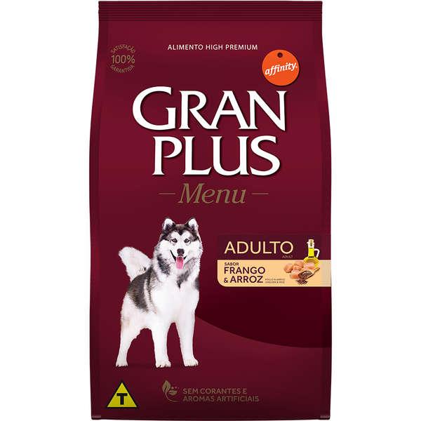 Ração GranPlus Menu Frango e Arroz para Cães Adultos 15 Kg