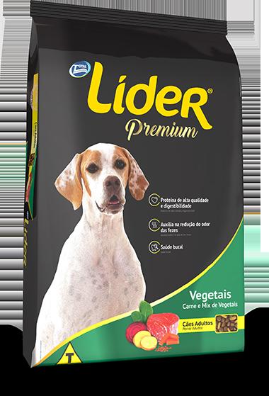 Ração Líder Premium Vegetais Para Cães Adultos 15 Kg