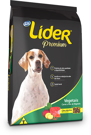 Ração Líder Premium Vegetais Para Cães Adultos 20 Kg