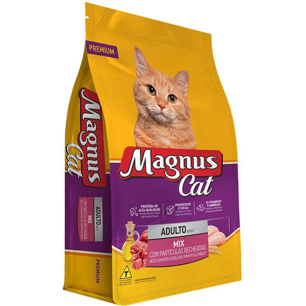Ração Magnus Cat Adultos Mix Com Partículas Recheadas 10,1kg