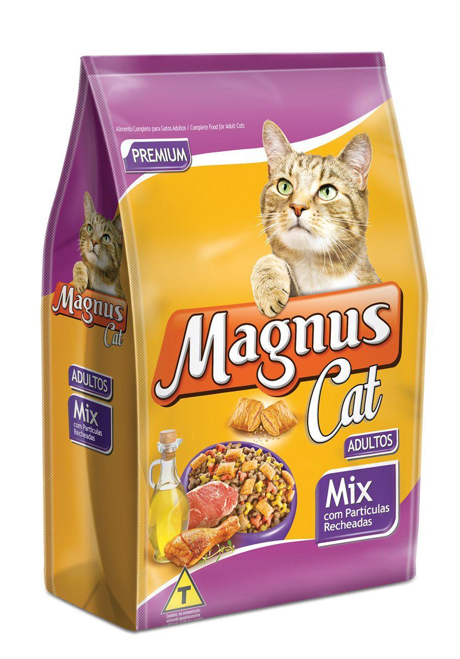RAÇÃO MAGNUS CAT ADULTOS MIX COM PARTÍCULAS RECHEADAS