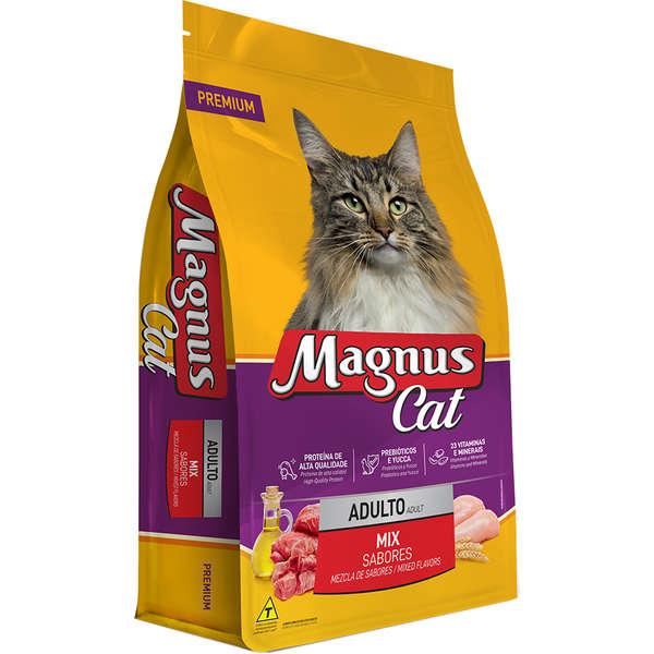 Ração Magnus Cat Adultos Mix De Sabores 25kg