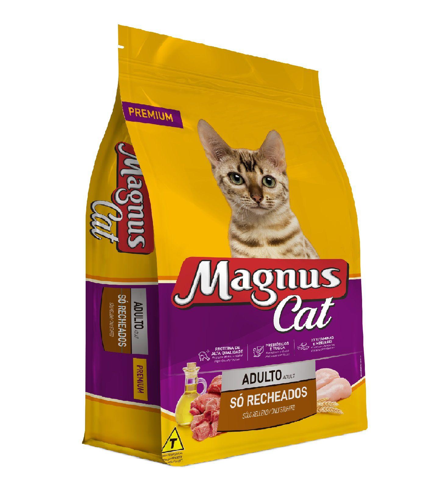 RAÇÃO MAGNUS CAT ADULTOS SÓ RECHADOS 15KG